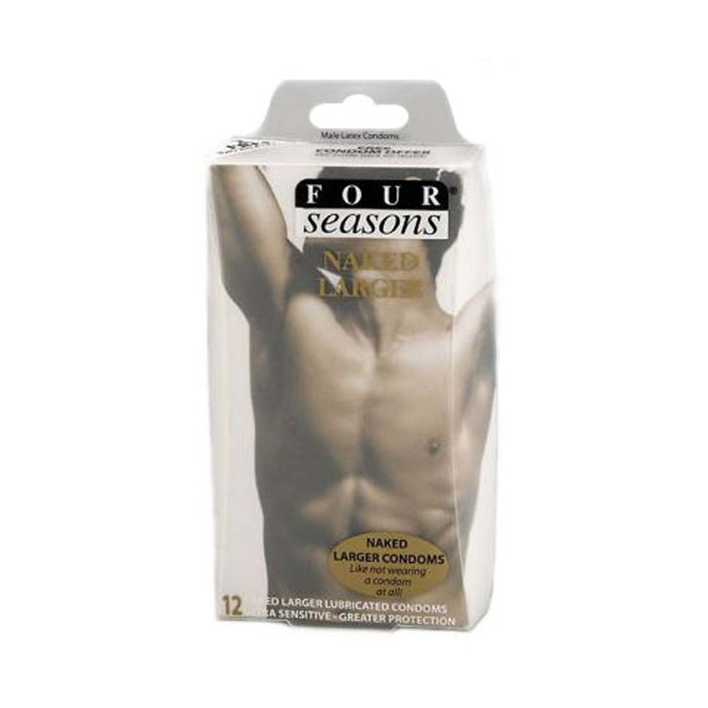 Four Seasons Naked Larger Condoms 12 Pack - View #1