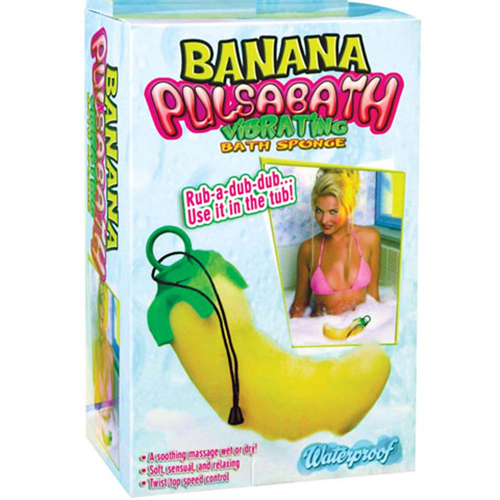 Banana Pulsabath Vibrating Bath Sponge - View #1