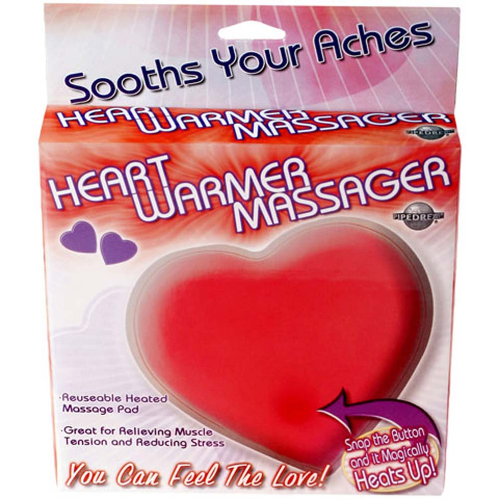 Heart Warmer Jelly Massager Red. - View #1