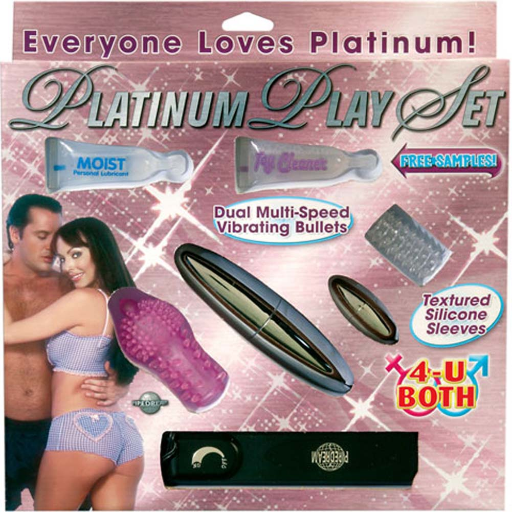 Platinum Play Set with Two Bullets and Two Silicone Sleeves - View #1