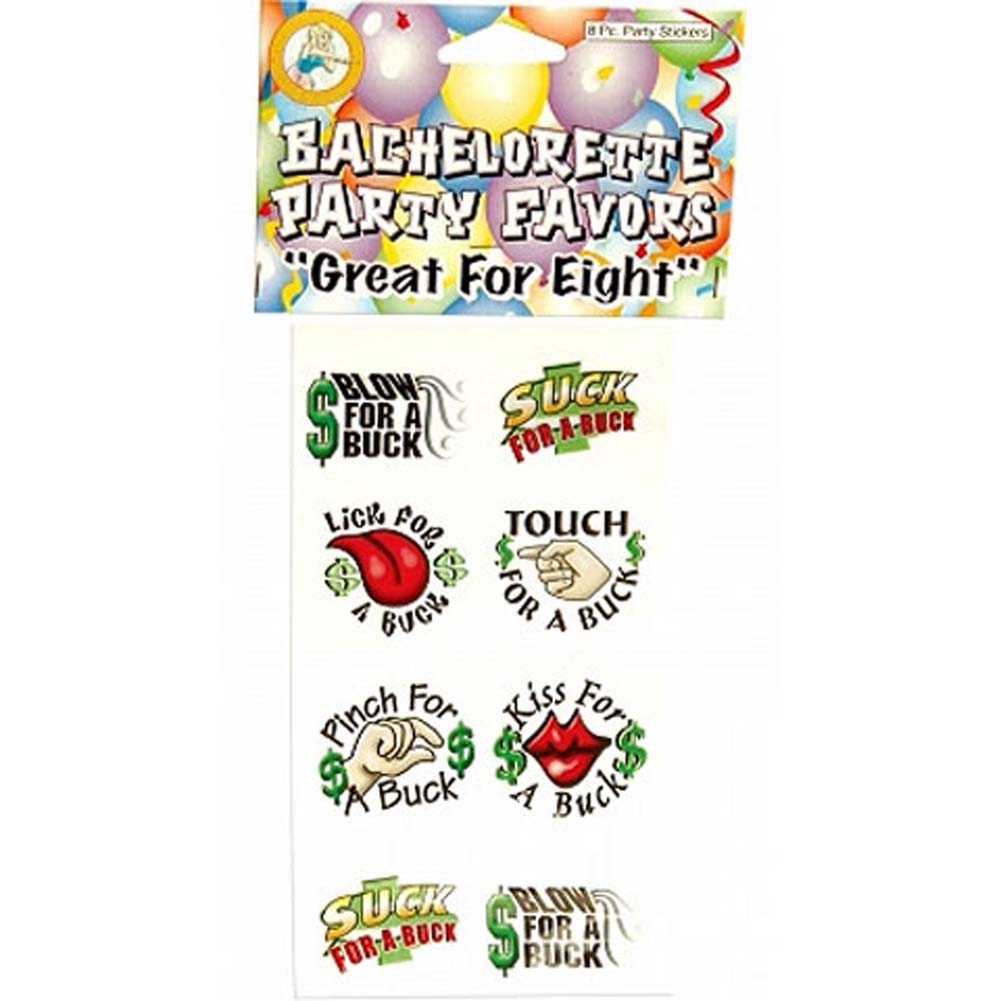 Bachelorette Party Stickers 12 Countr NO BARCODE - View #1