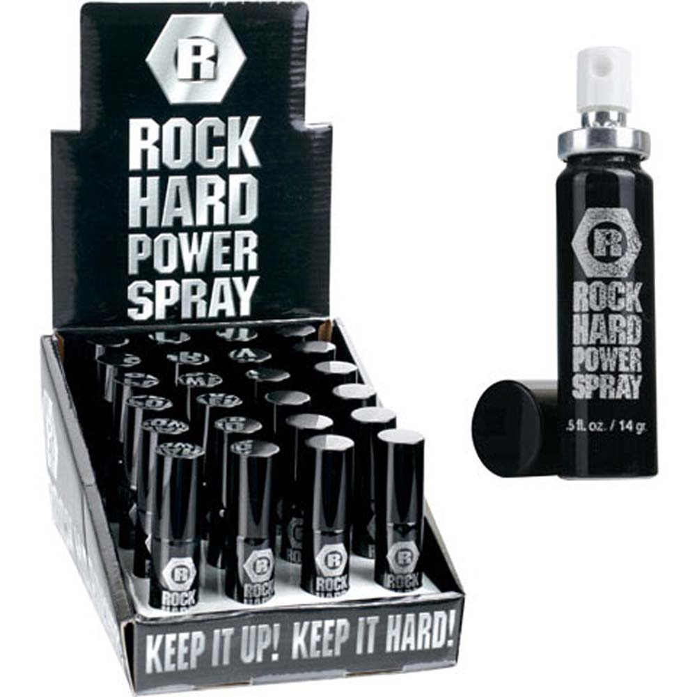 Rock Hard Power Spray 0.5 Fl. Oz. Counter Display of 24 - View #1