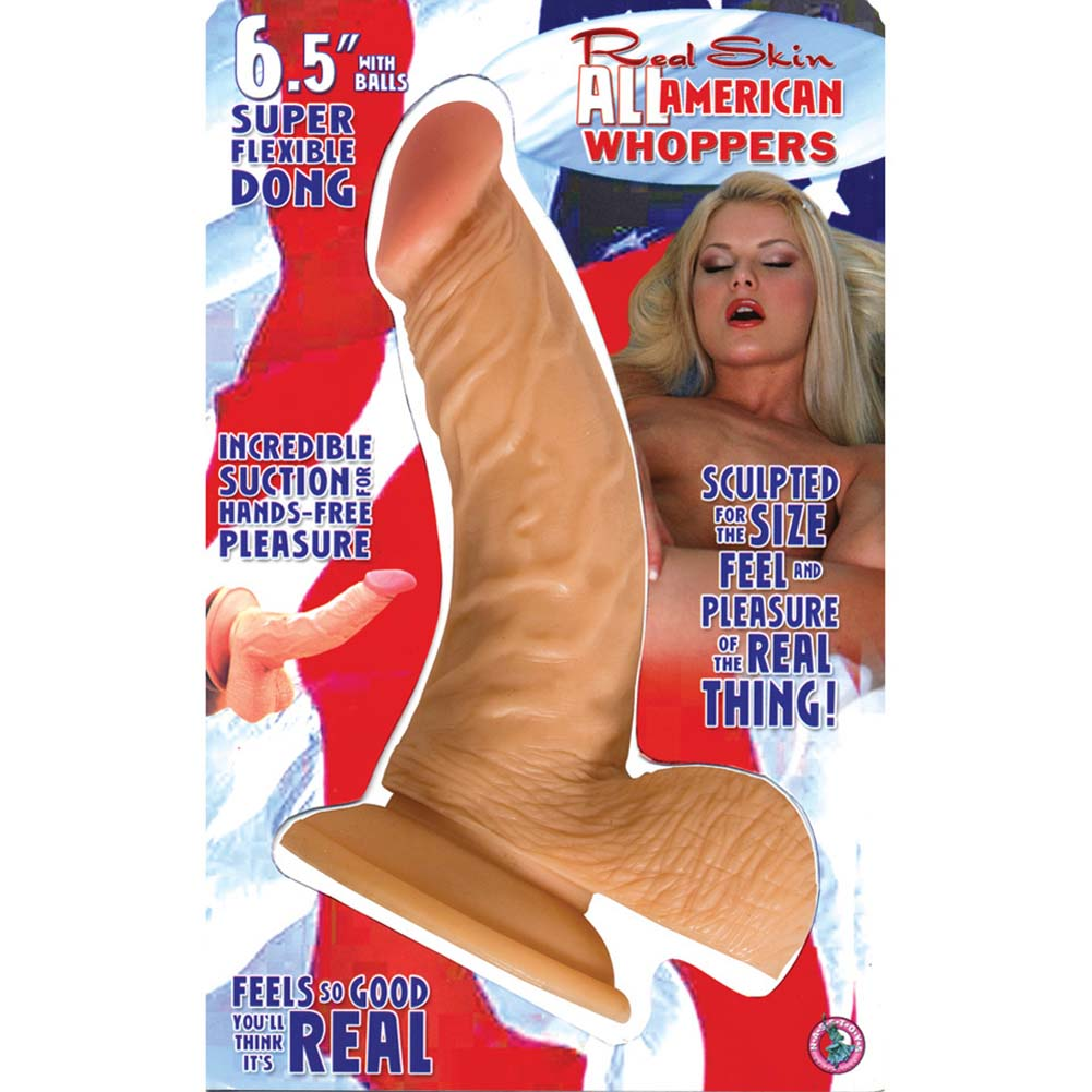 "RealSkin All American Whopper Flexible Ballsy Dong 6.5"". - View #3"