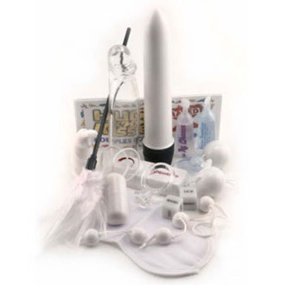 White Wedding Kit with Waterproof Vibrator 8 In. - View #2