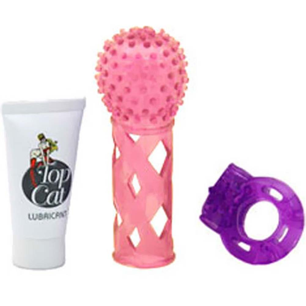 Male Passion Pack with Silicone Vibrating Love Ring Sleeve - View #2