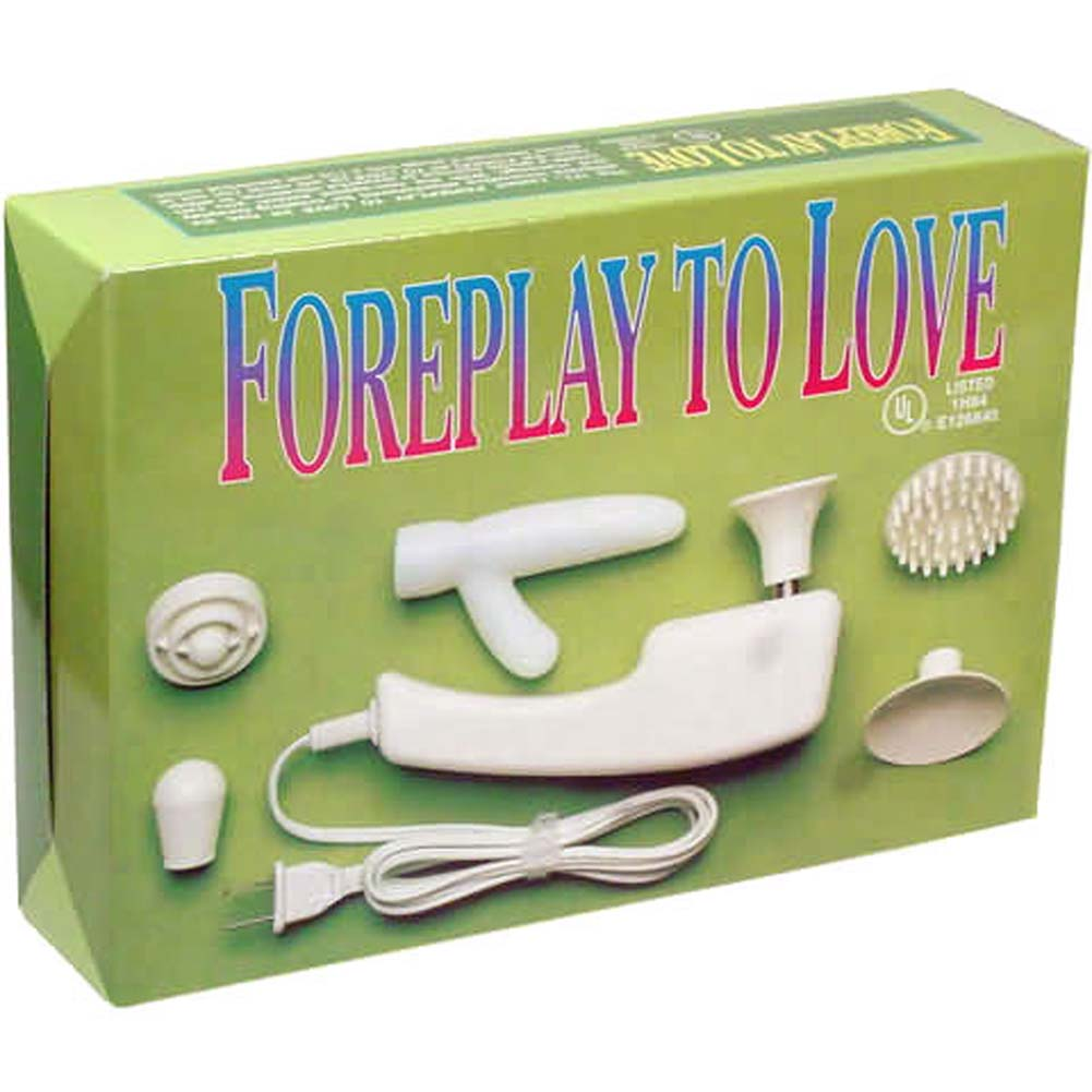Foreplay to Love Electric Vibrating Kit with 6 Attachments - View #1