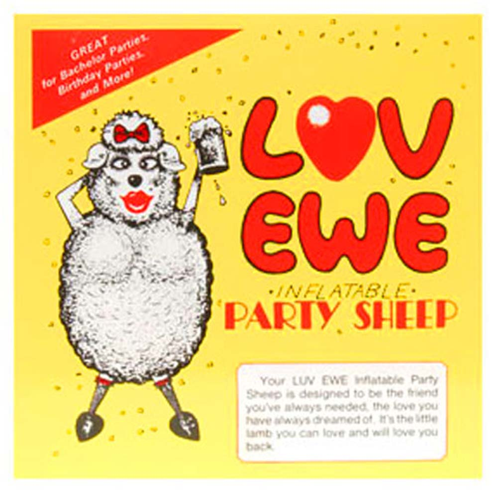 Love Ewe Inflatable Party Sheep - View #1