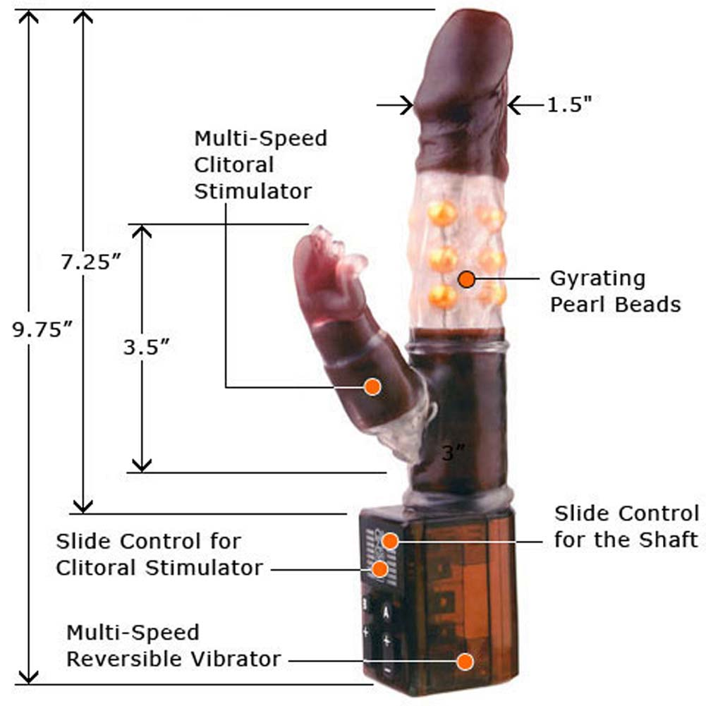 Black Panther Vibrator 9.75 in with Free XXX DVD - View #2