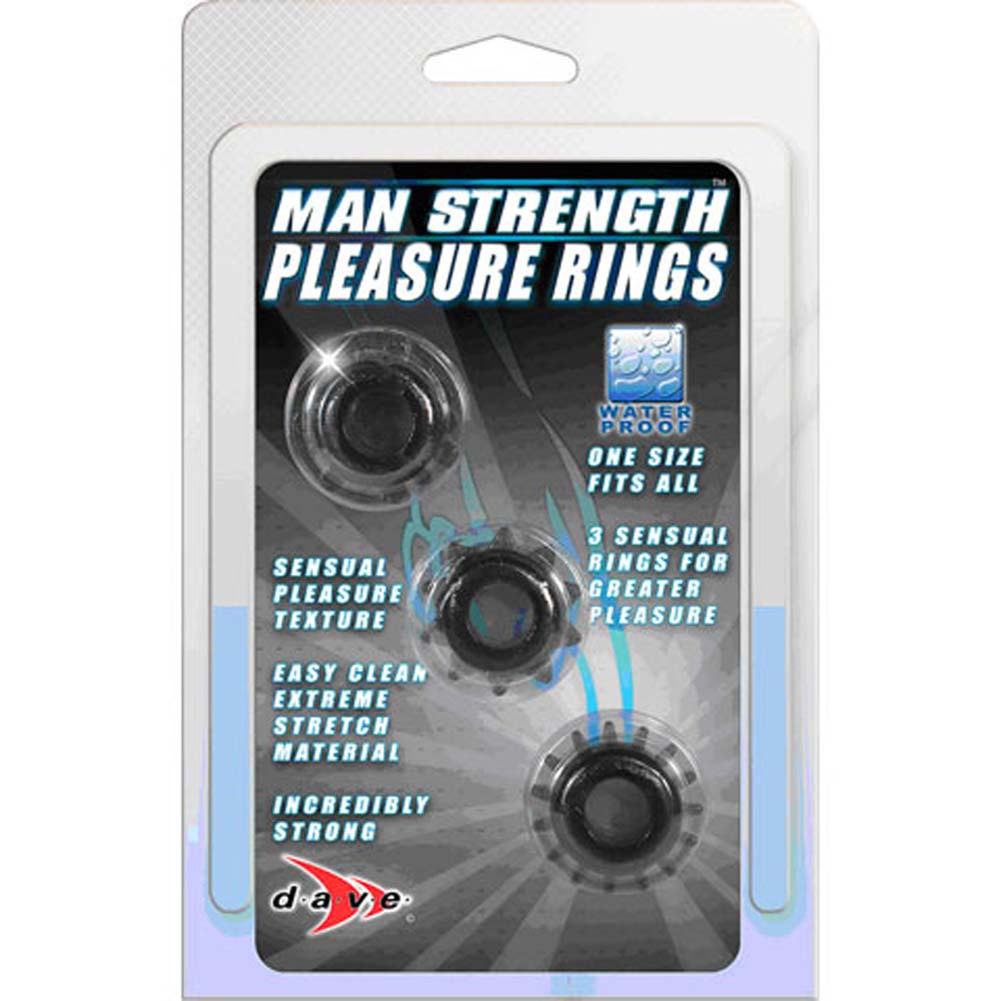 Man Strength Pleasure Rings Kit Black - View #3