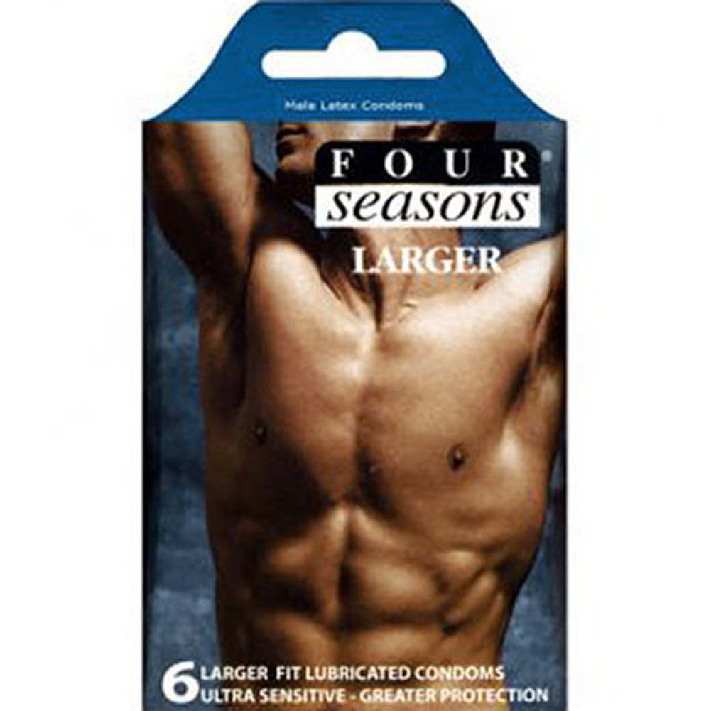 Four Seasons Larger Fitting 6 Condoms Pack - View #2