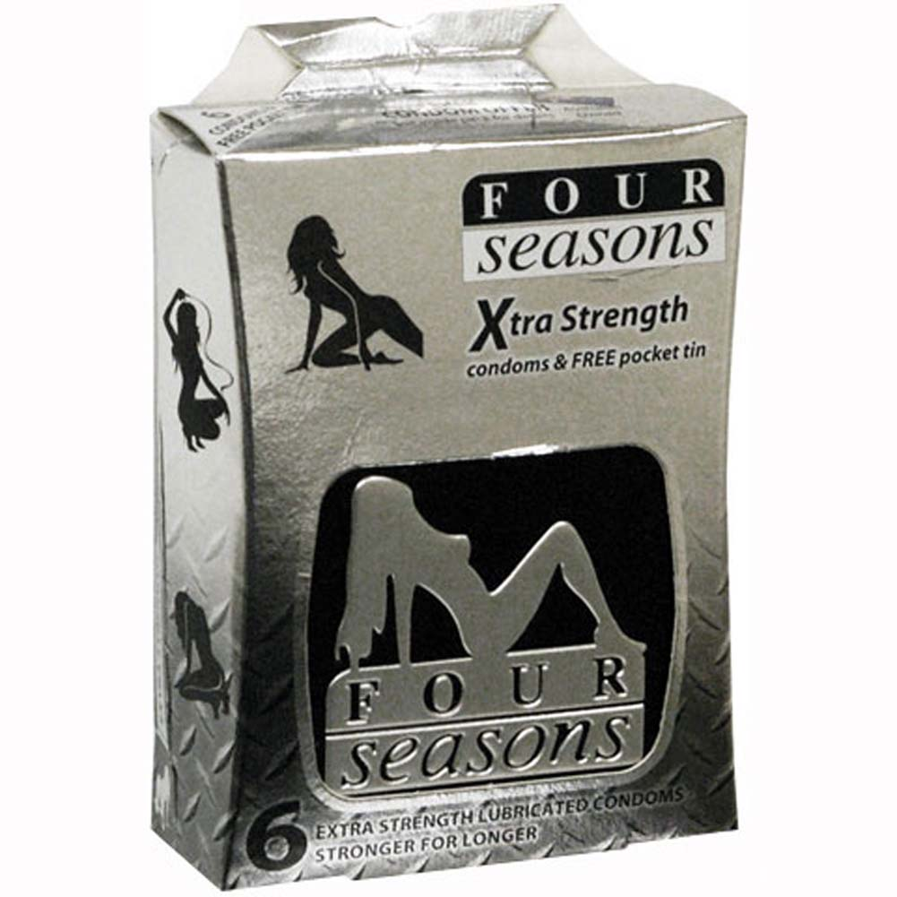 Four Seasons Xtra Strength Condoms 6 Pack - View #1