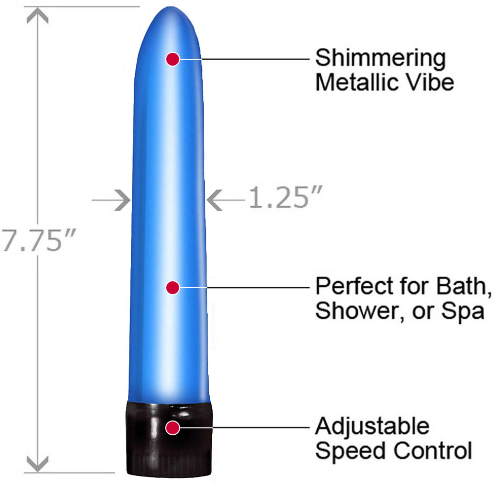 "Synergy Erotic Synergy Vibe Me Sensual Pleasure Vibrator 7.75"" Cool Blue - View #1"