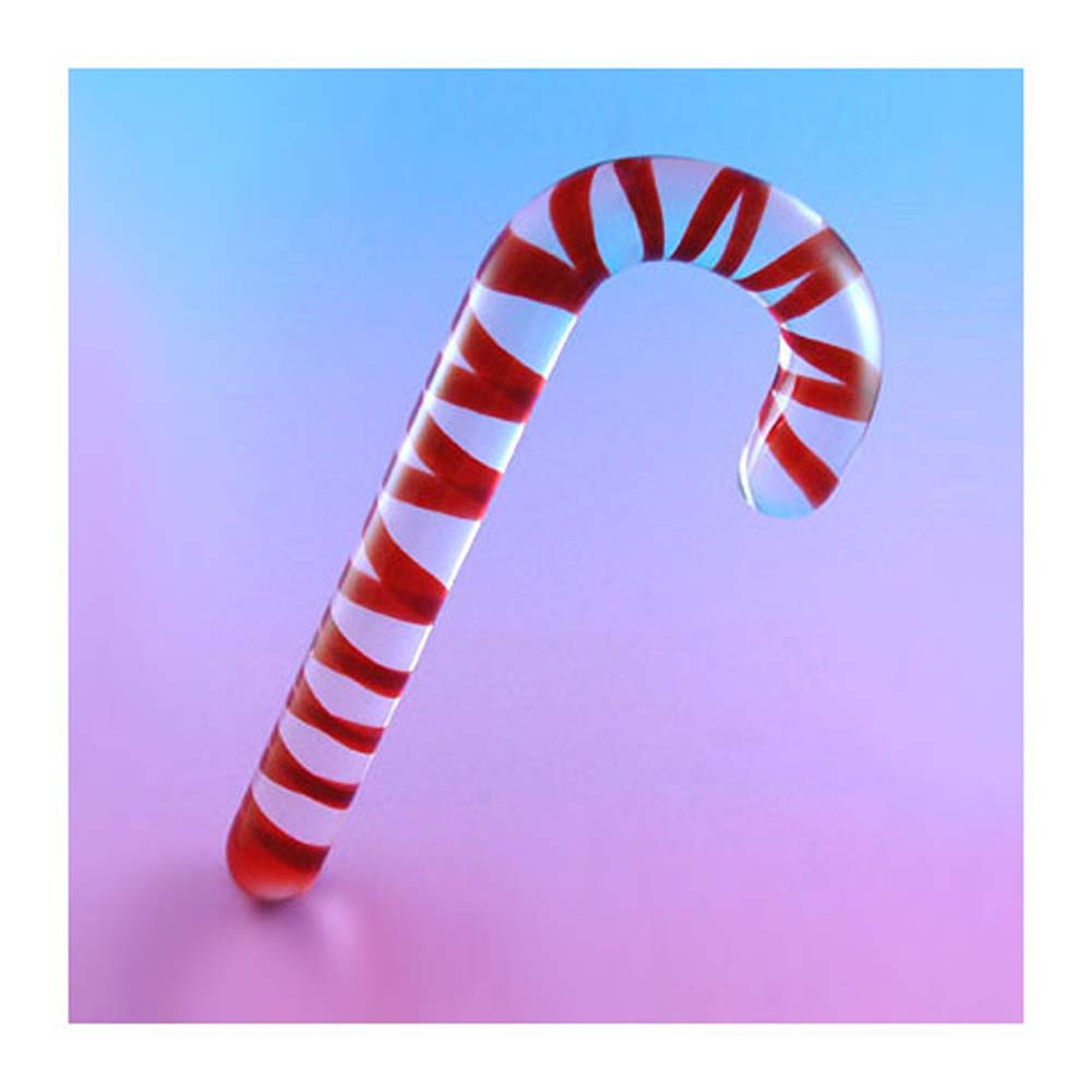Candy Cane Glass Dong 7.5 In. With Bag - View #2