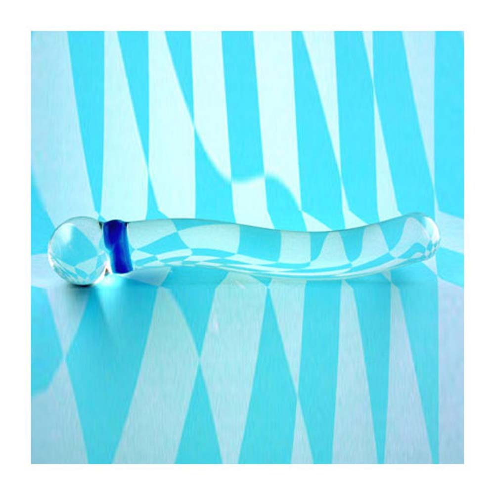 Clear Smooth Contour Glass Dong 7.75 In. With Bag - View #2
