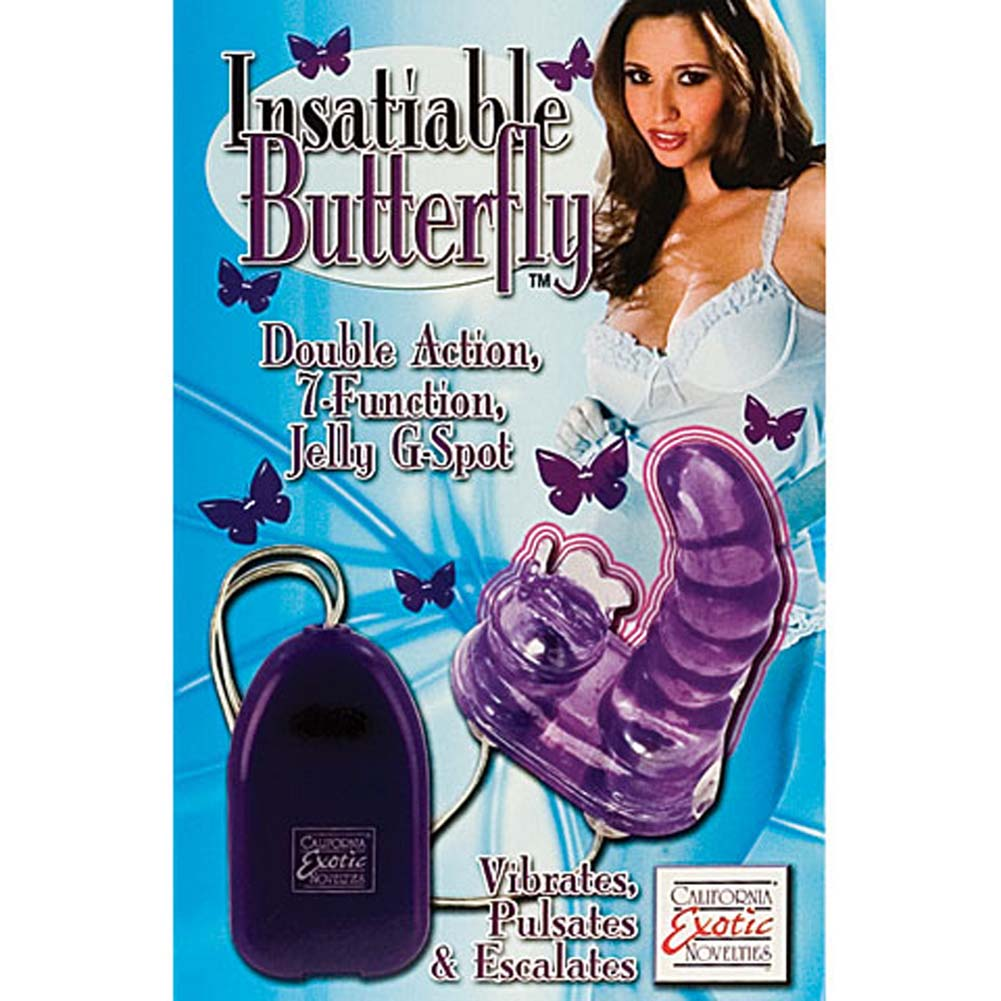 "Insatiable Butterfly G-Spot Jelly Vibe 5.5"" - View #4"