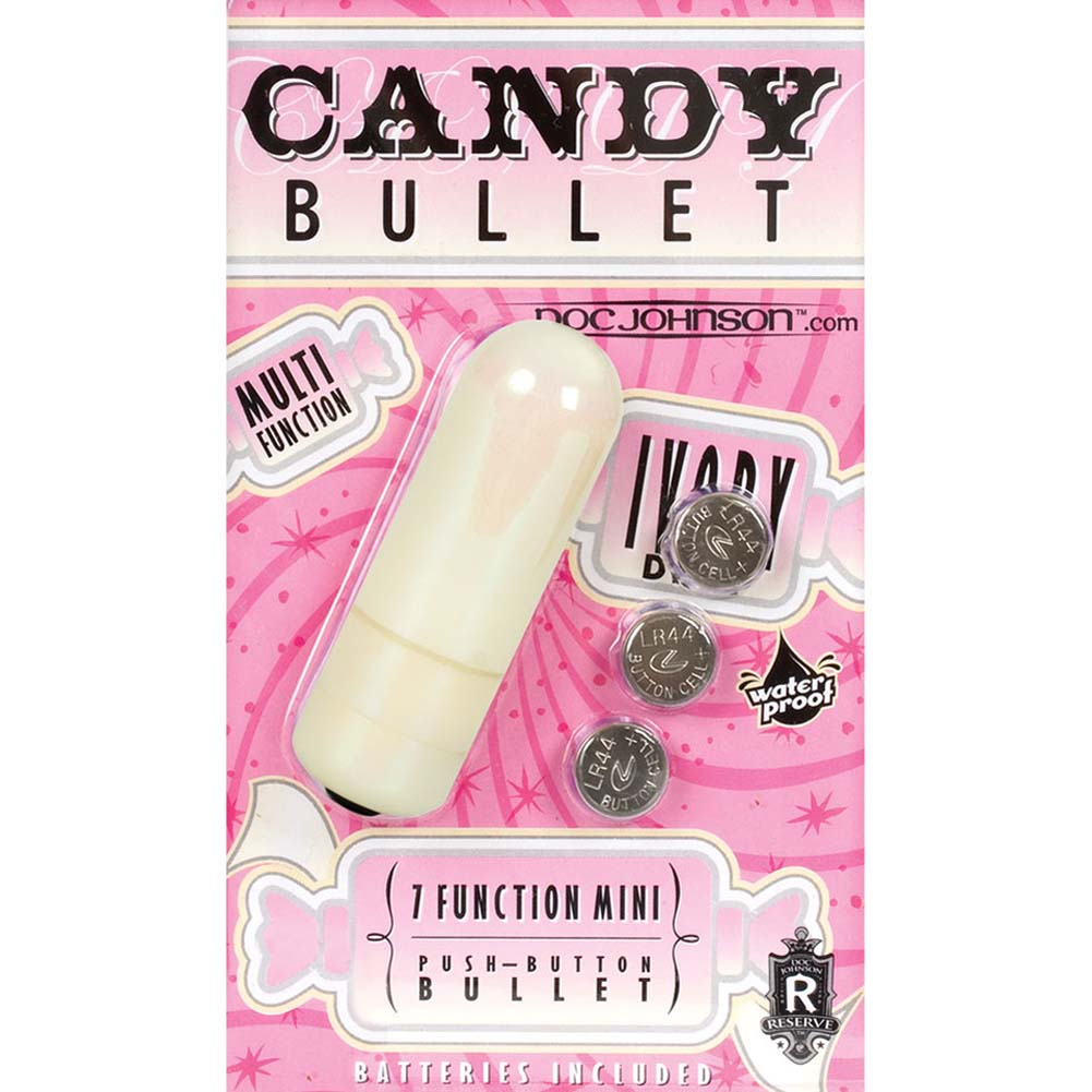 Candy Bullet Waterproof 7 Function Mini Vibe Ivory - View #2