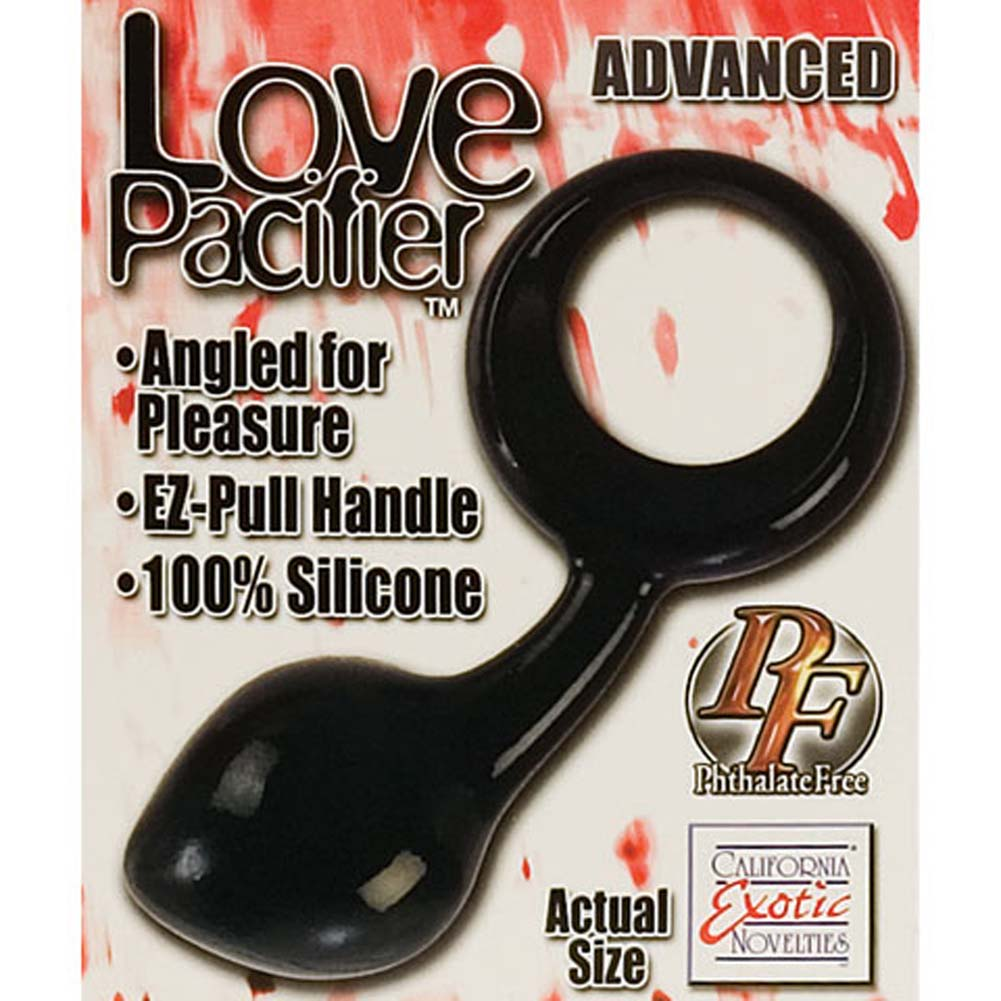 Love Pacifier Advance Silicone Butt Plug Black - View #3