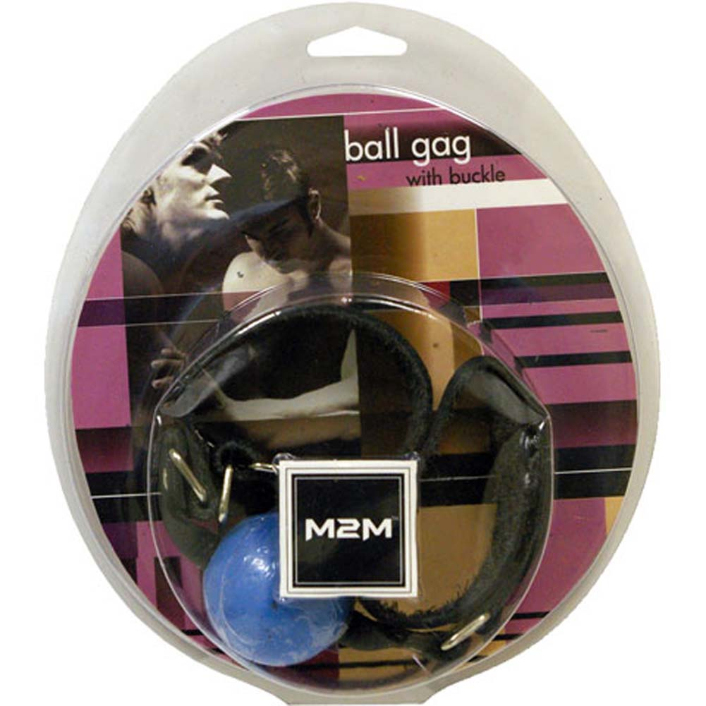 Ball Gag with Buckle Blue - View #1