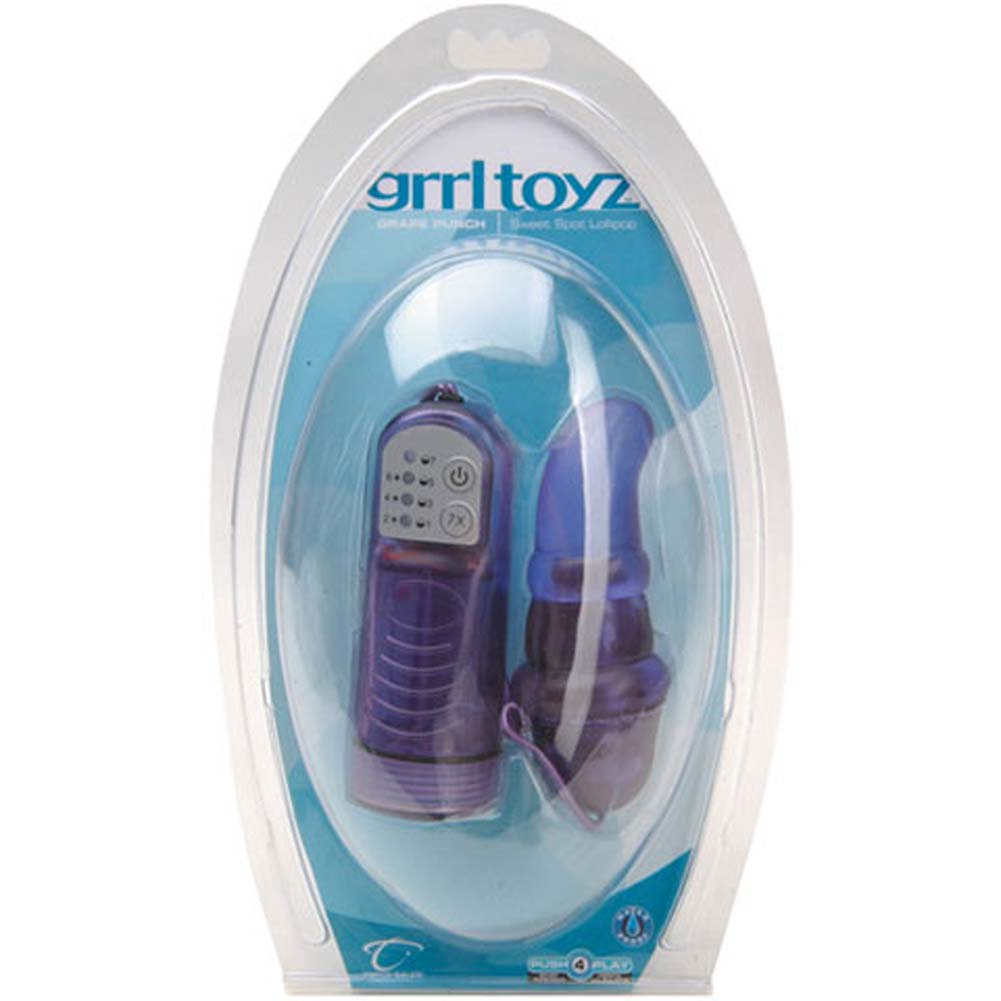 Grrl Toyz Sweet Spot Lollipop Waterproof Vibe Grape Punch - View #1