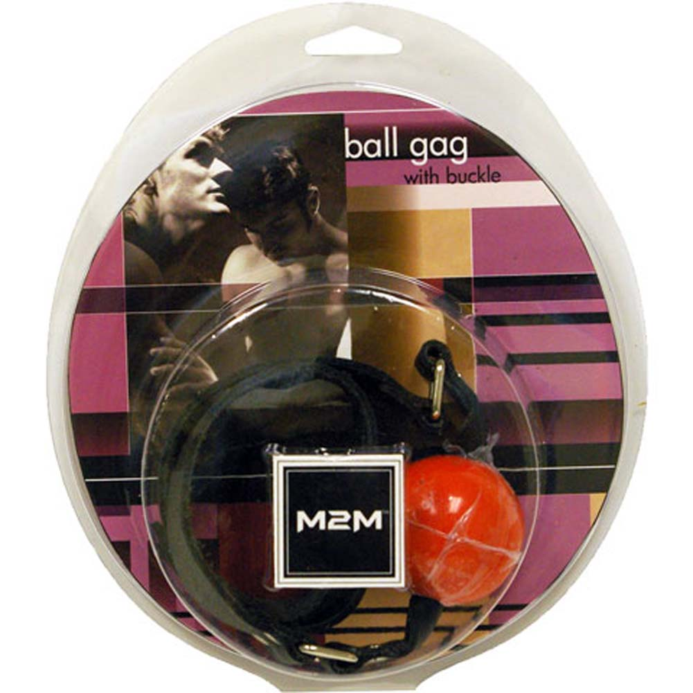 Ball Gag with Buckle Orange - View #1