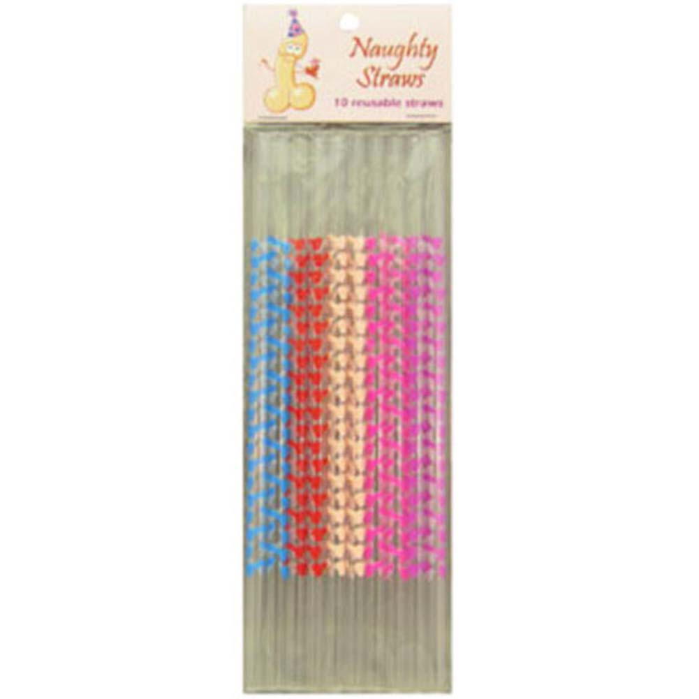 Naughty Straws Set 10 Pc. - View #1