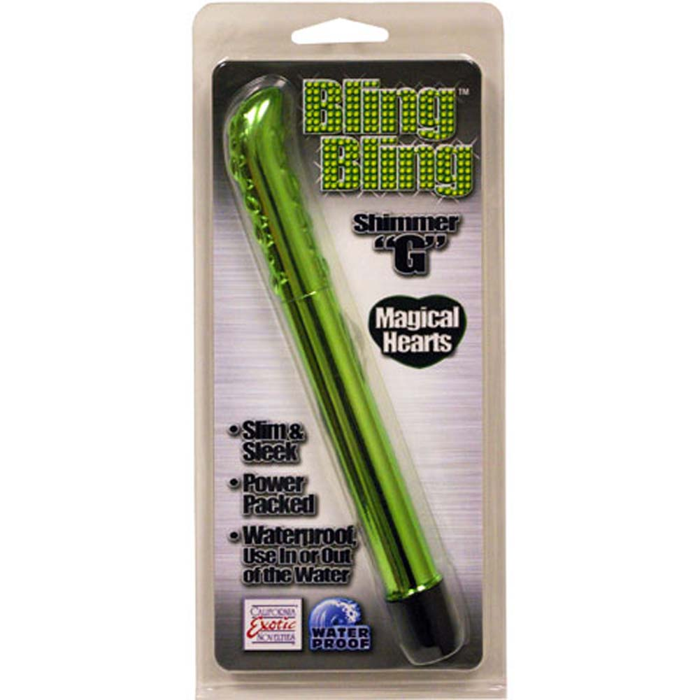 Bling Bling Shimmer G Waterproof Vibe Green 7.5 In. - View #1