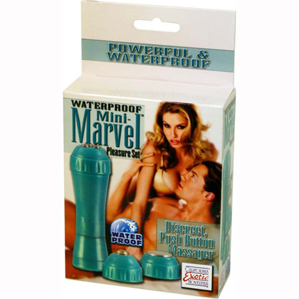 Waterproof Mini Marvel Vibrating Pleasure Set Teal - View #1