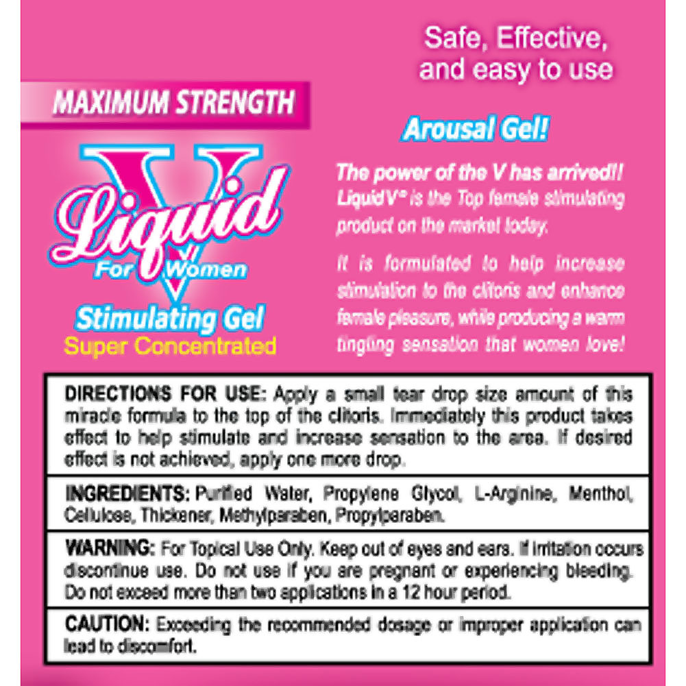 Liquid V for Women Stimulating Gel 3 Tubes Pack - View #1
