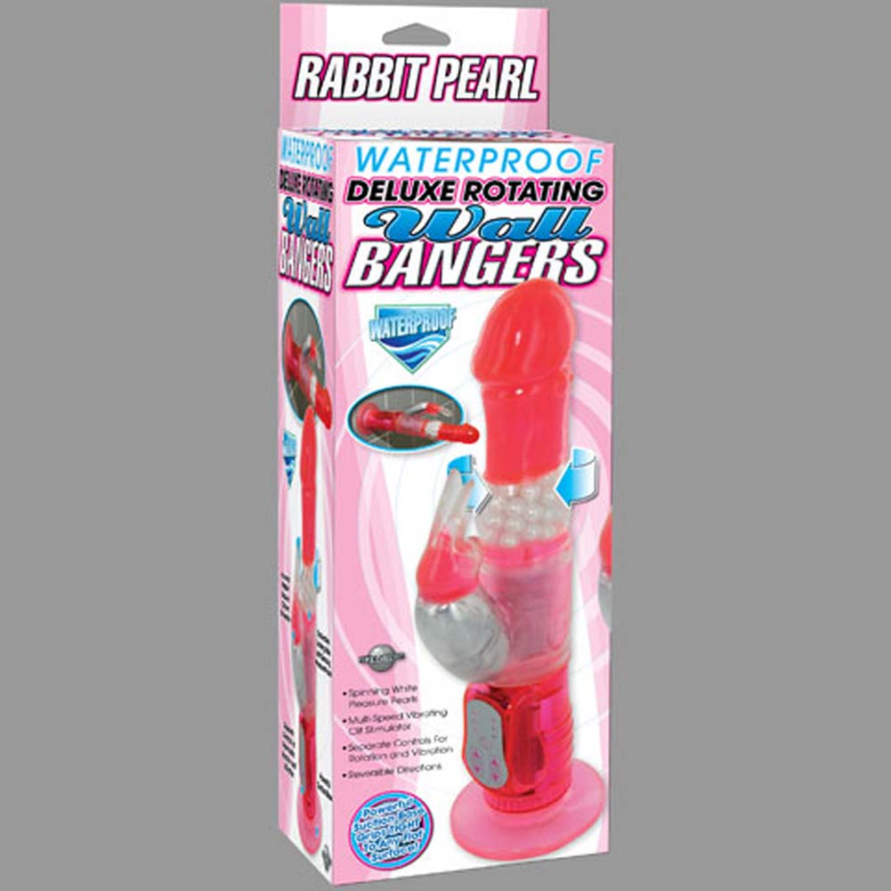 Deluxe Rotating Wall Bangers Rabbit Pearl Waterproof Vibe - View #4
