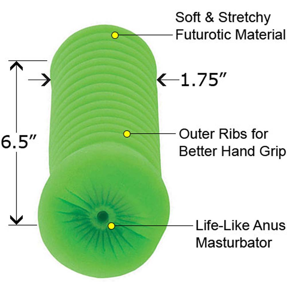 Wicked Stroker Carmens Futurotic Tight Ass Lime - View #1