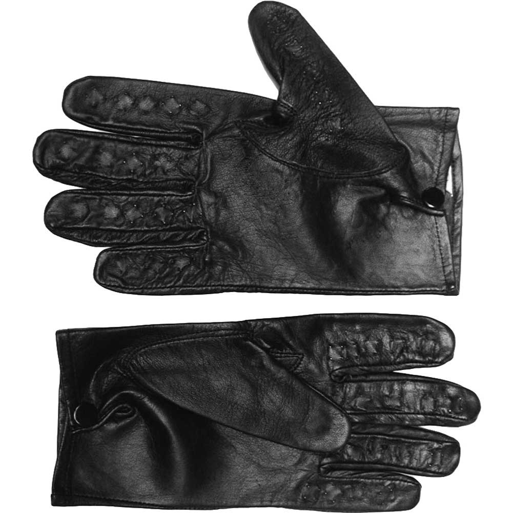 Leather Vampire Gloves Size Large - View #2
