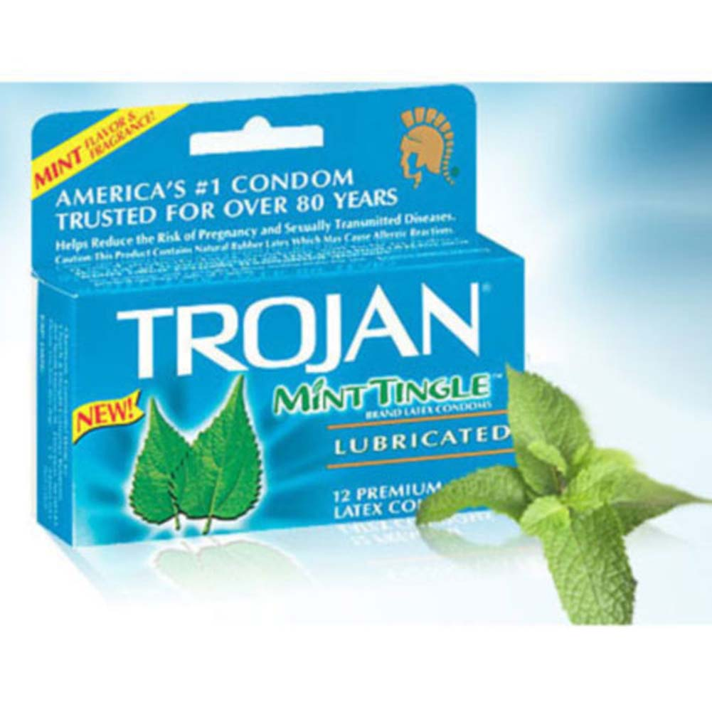 Trojan Mint Tingle Lubricated 12 Condoms Pack - View #1