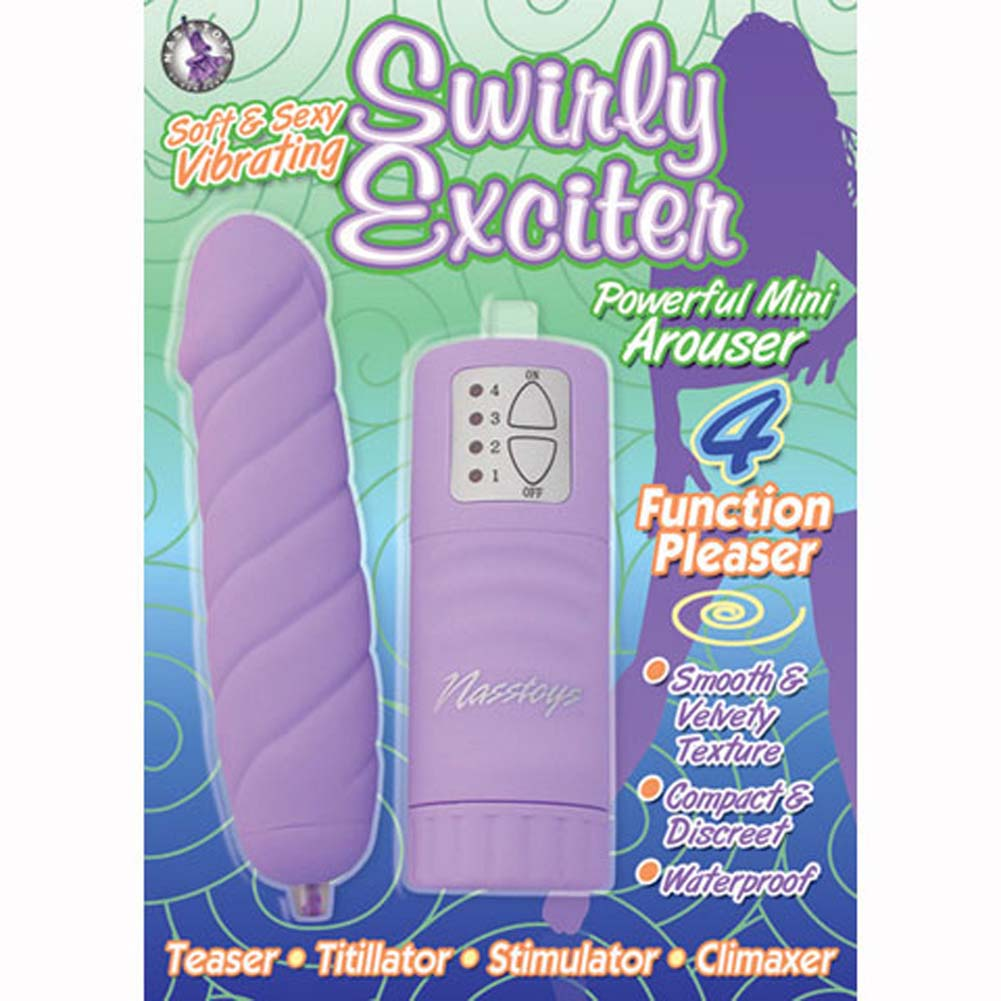 "Swirly Exciter Waterproof Mini Vibe 4.75"" Lavender - View #1"