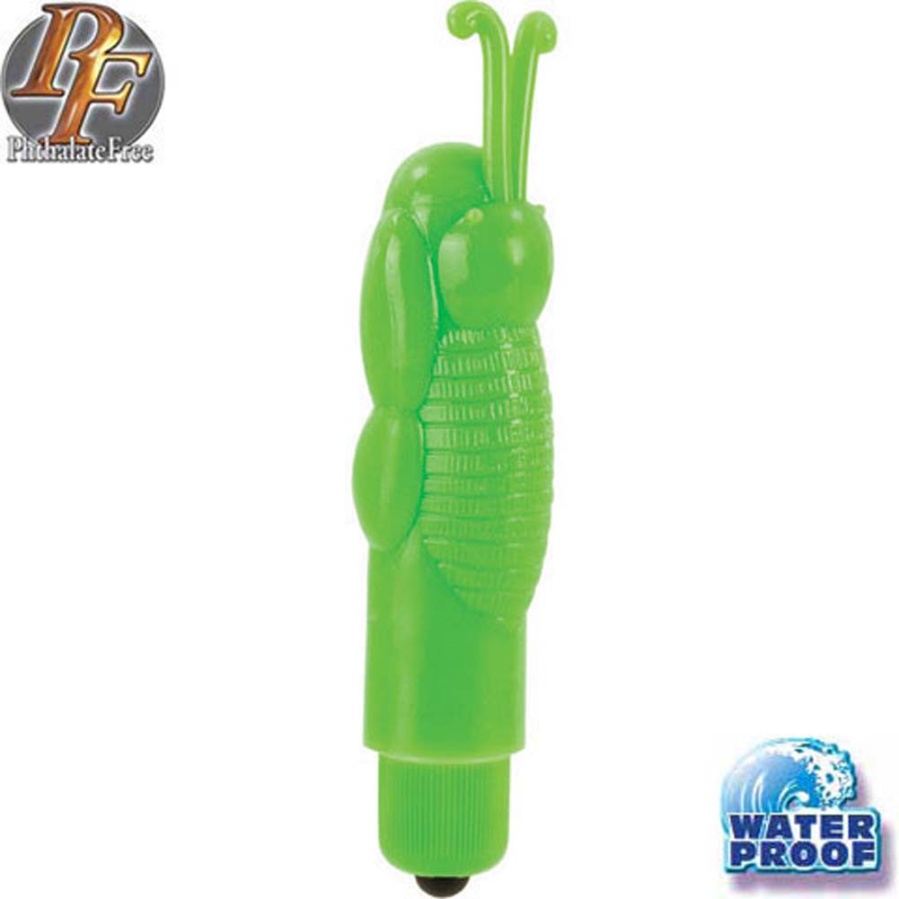 Zingers Waterproof Mini Vibe Green 4 In. - View #2