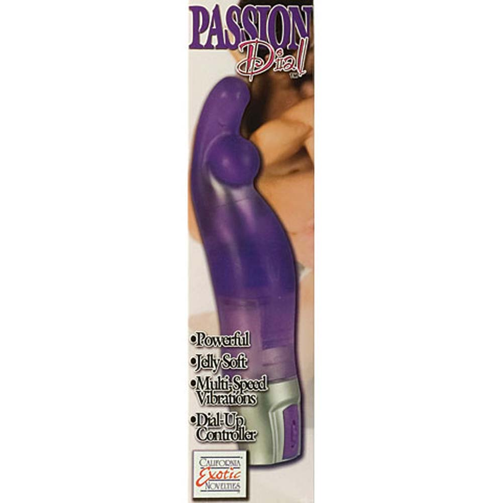 Passion Dial Play G-Spot Jelly Vibe Purple 8.5 In. - View #3