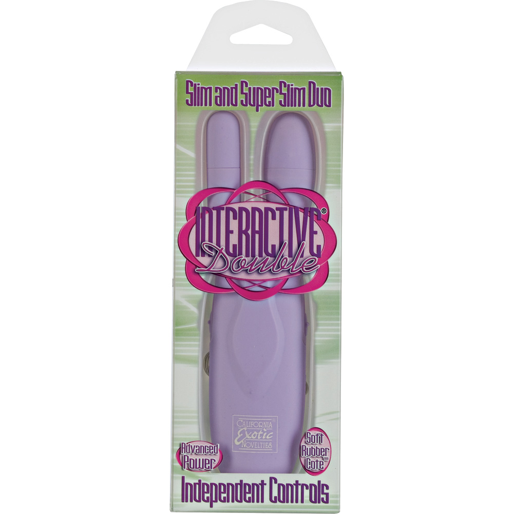Interactive Double Slim and Super Slim Duo Bullets Lavender - View #3