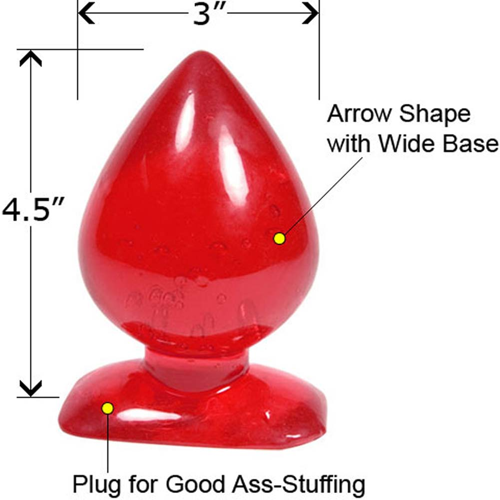 "GumDrops Ace of Spades Butt Plug 4.5"" Red - View #1"