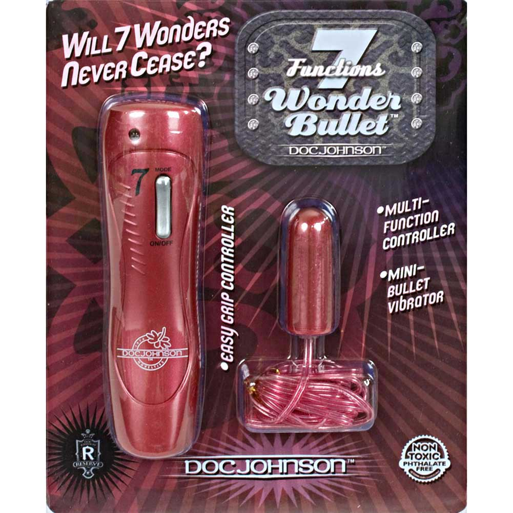 "Doc Johnson 7 Functions Wonder Mini Bullet 1.5"" Pink - View #4"