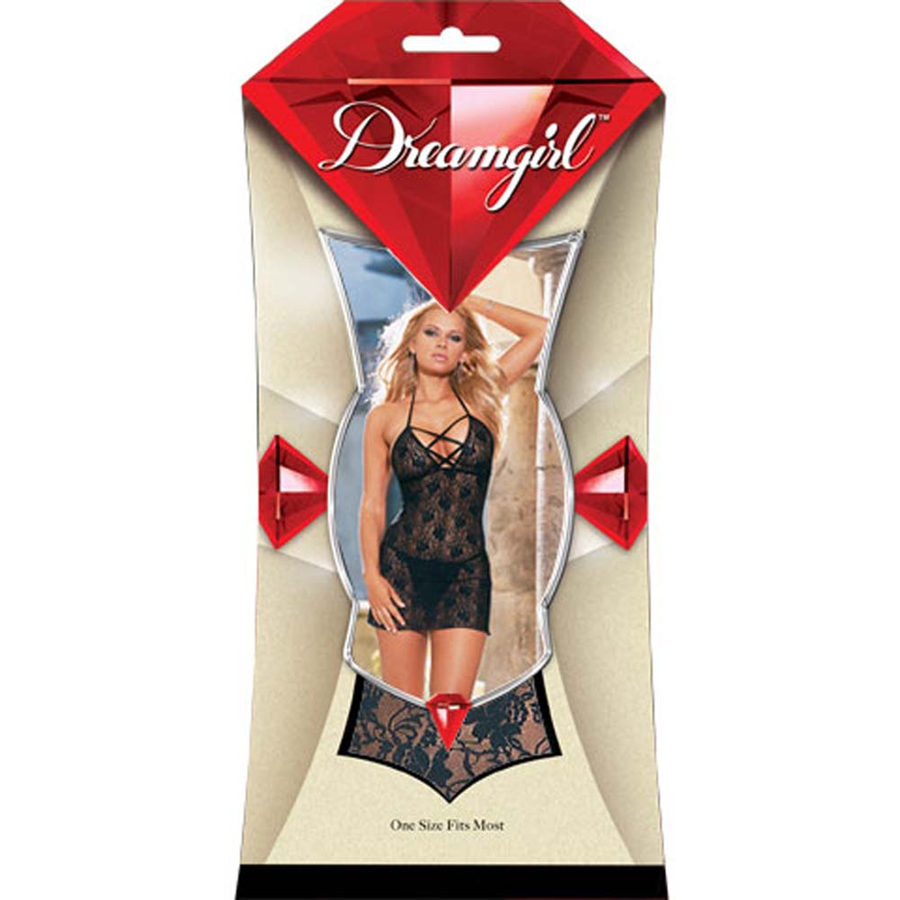 Babydoll with Thong Style 3691 Black - View #1