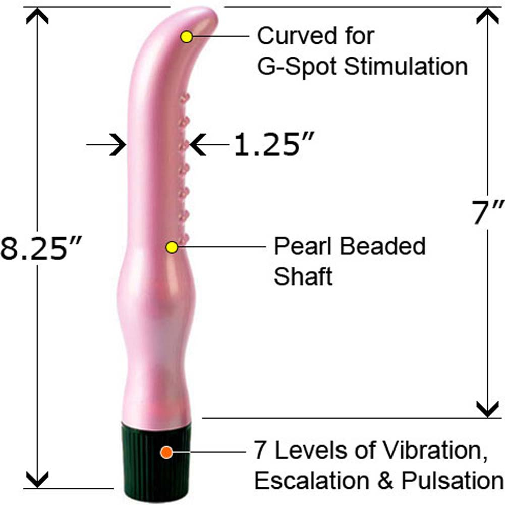 7 Function G Girl Waterproof Vibrating Massager Pink 8.25 In - View #2