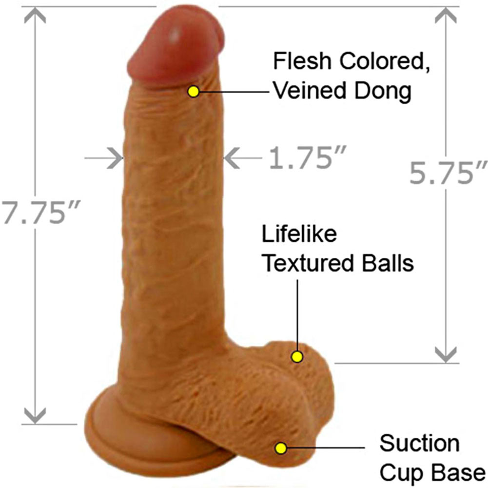 "Nasstoys Lifelikes Latin Duke Dong with Suction Cup 7.75"" Beige - View #1"