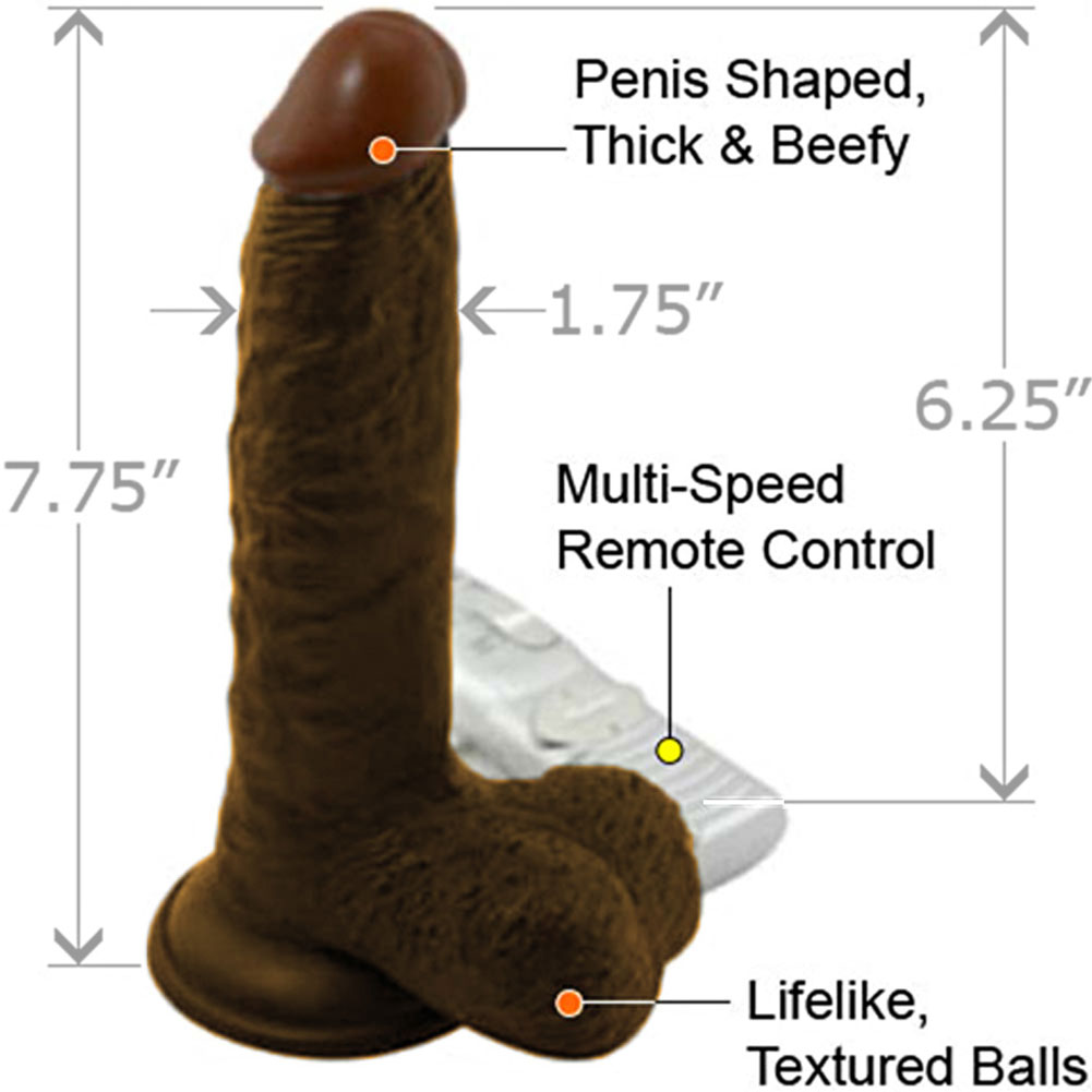 "Nasstoys Lifelikes Vibrating Black Duke Cock with Suction Cup 7.75"" Ebony - View #1"