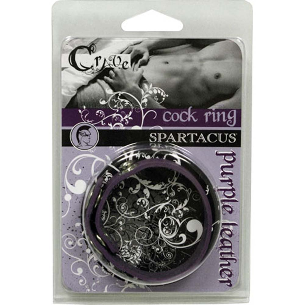 Spartacus Crave Leather Cockring Purple - View #2