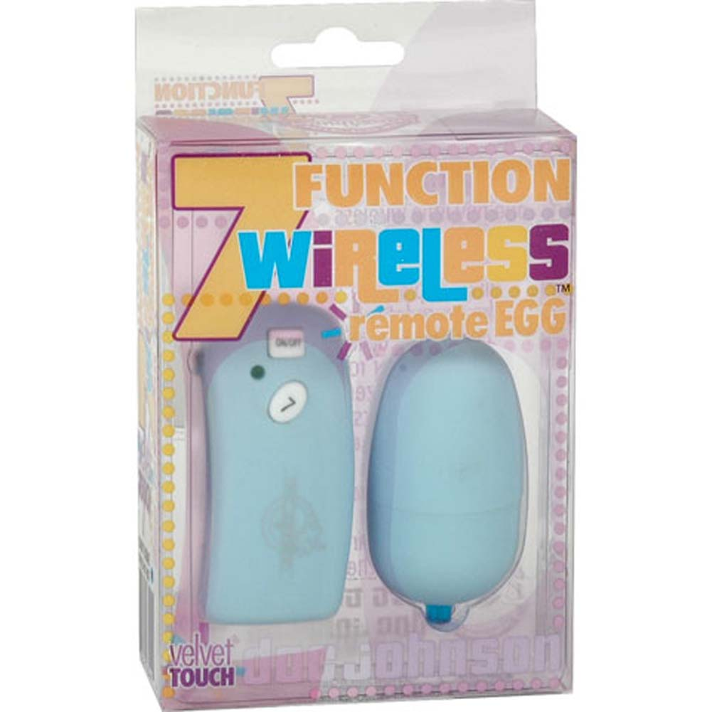"7 Function Wireless Waterproof Remote Egg 2.5"" Baby Blue - View #3"