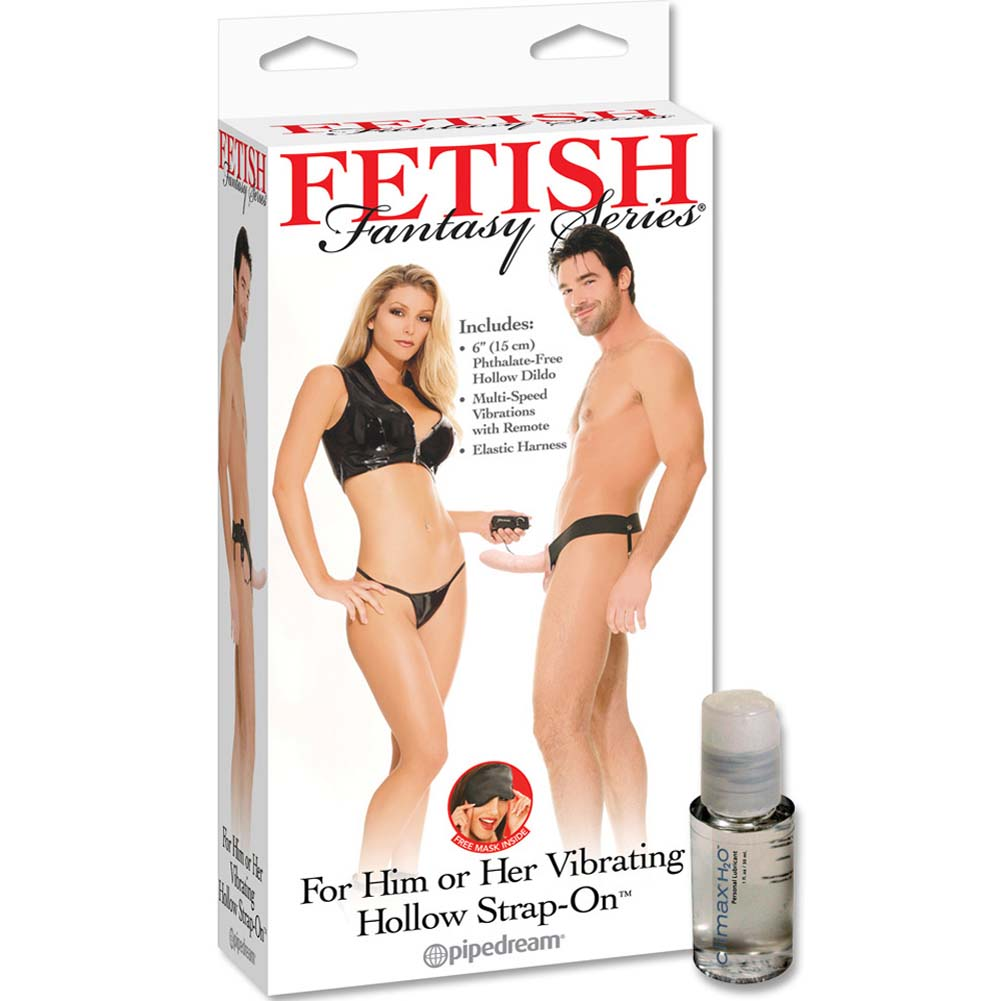 Fetish Fantasy Vibrating Hollow Strap-On With Intimate Lube - View #1