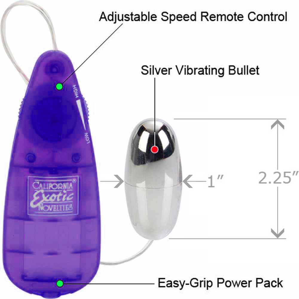 Teardrop Purple Remote Bullet and Waterproof Bullet Combo - View #1