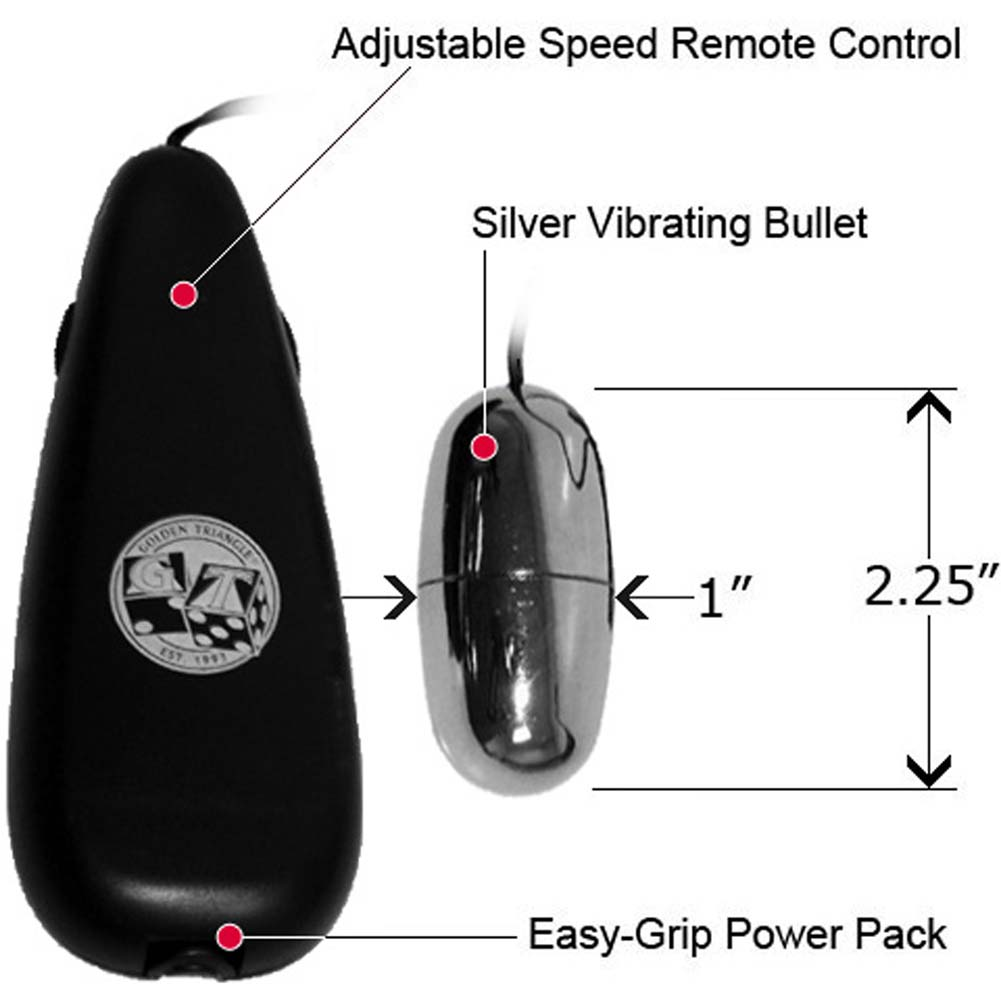 Bulk Vibrating Bullet with Slim Teardrop Black Remote and Generic Lube Pillow - View #1