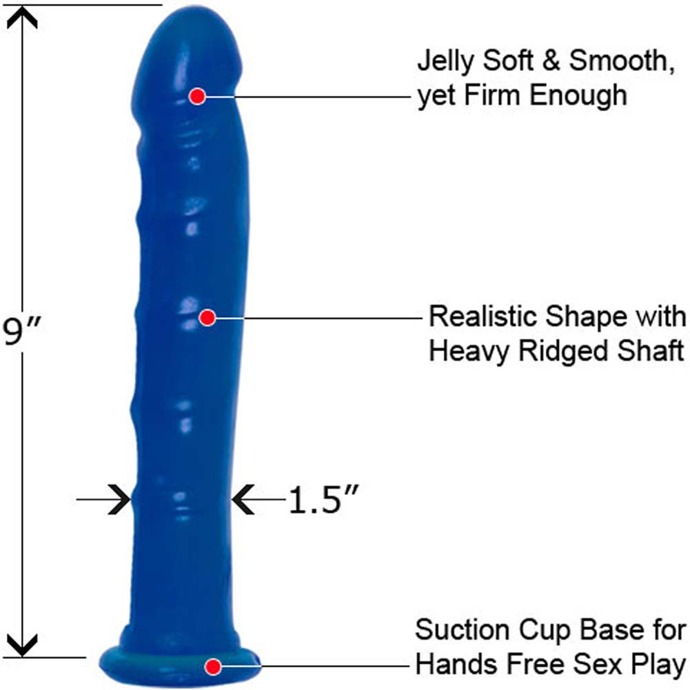 BUNDLE Ultimate Krystal Jelly Suction Dong 0.5 Oz Lubricant - View #1