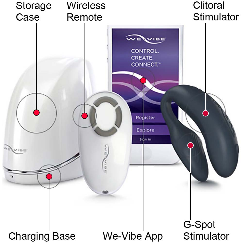 We-Vibe 4 CoupleS Dual Remote Vibrator with 50ml Travel Toy Cleaner 125ml H20 Lubricant - View #1