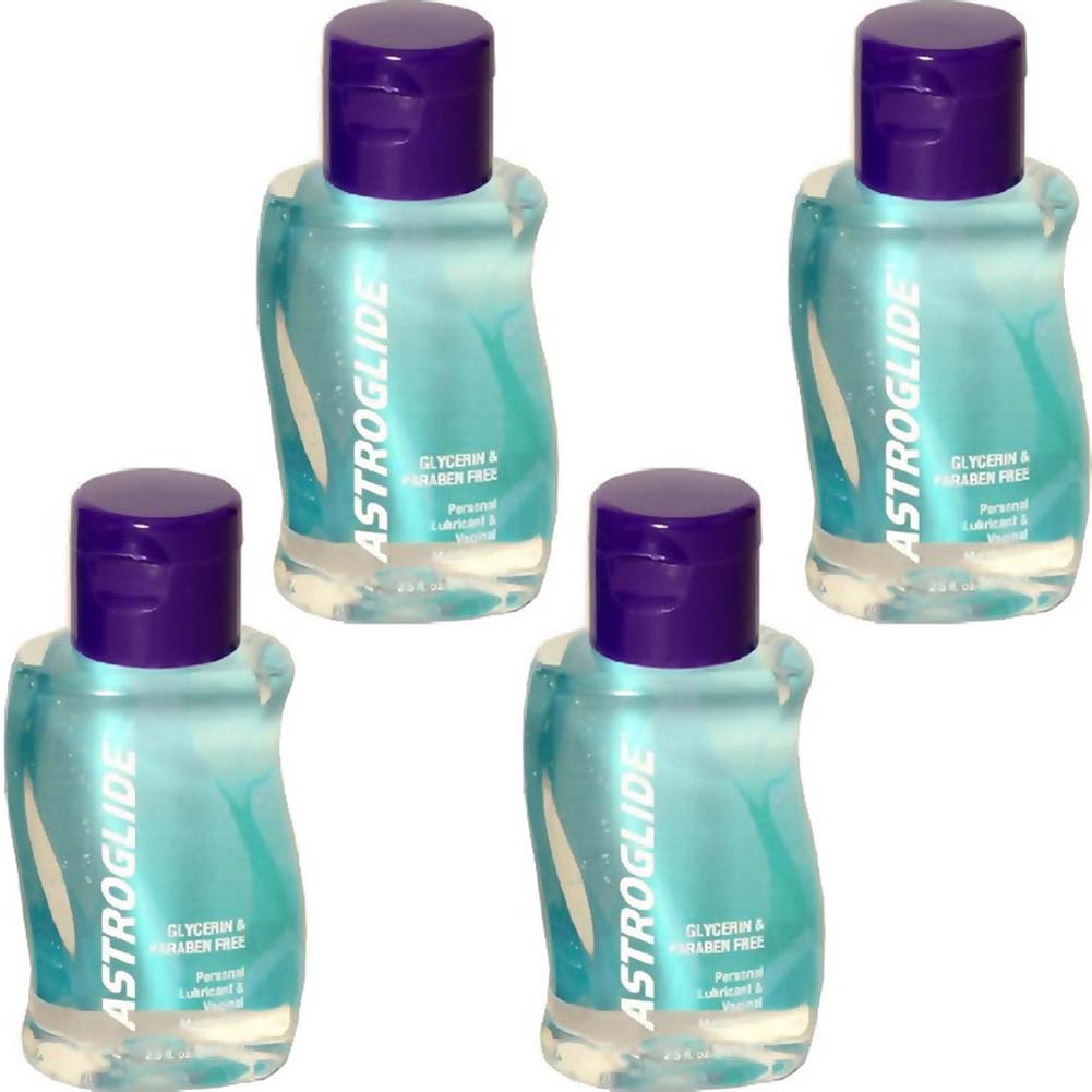 Astroglide Glycerin and Paraben Free Lube 2.5 Fl. Oz. Bottles Pack of 4 - View #2